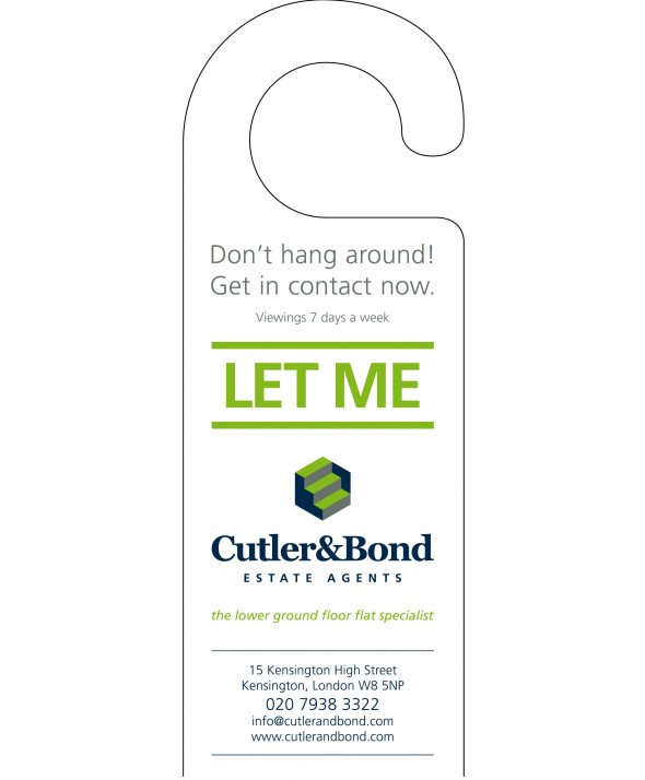 Advertising Door Hanger (Estate Agent)