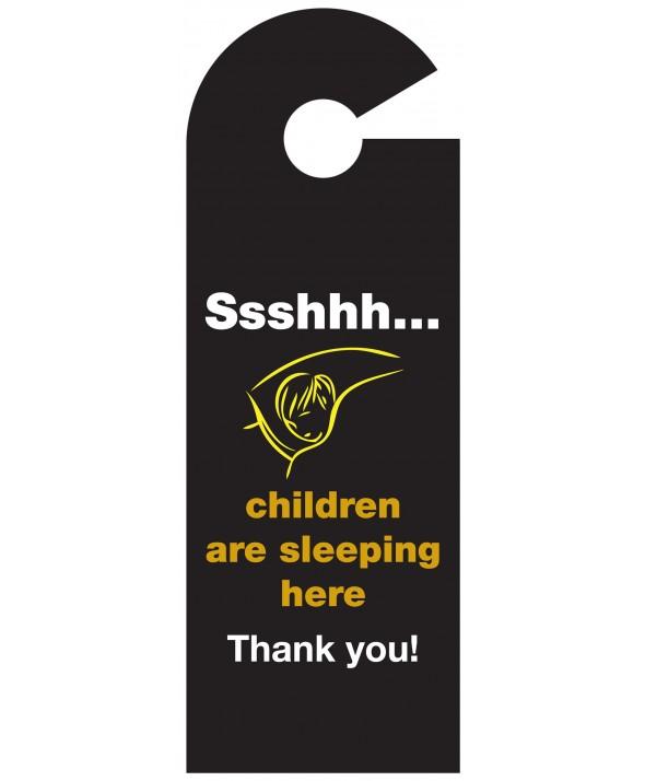 Shhh Children Asleep Door Hanger (Design 2)