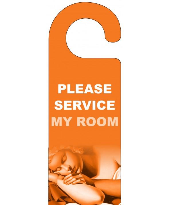 Please Service My Room Door Hanger (Orange)