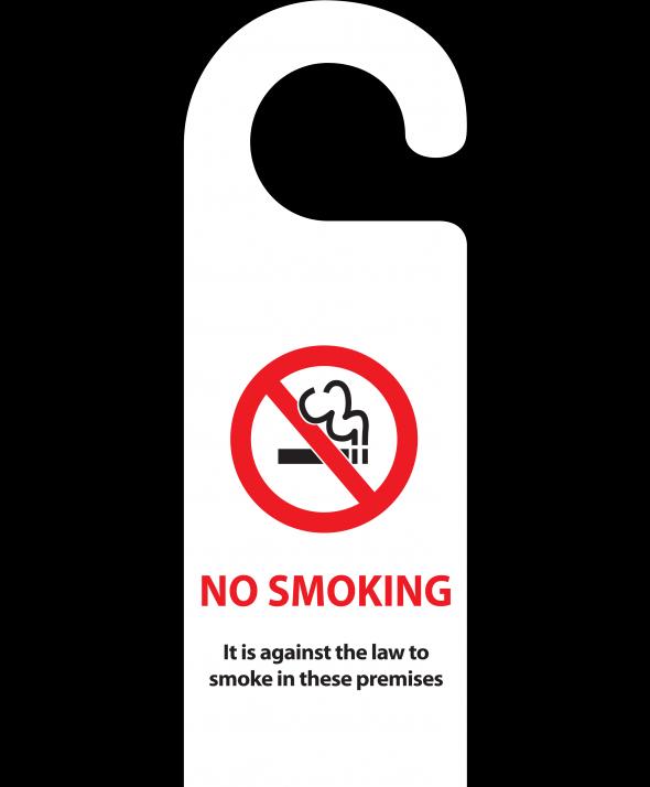 Design Your Own Door Hangers: No Smoking Door Hanger (Design 1