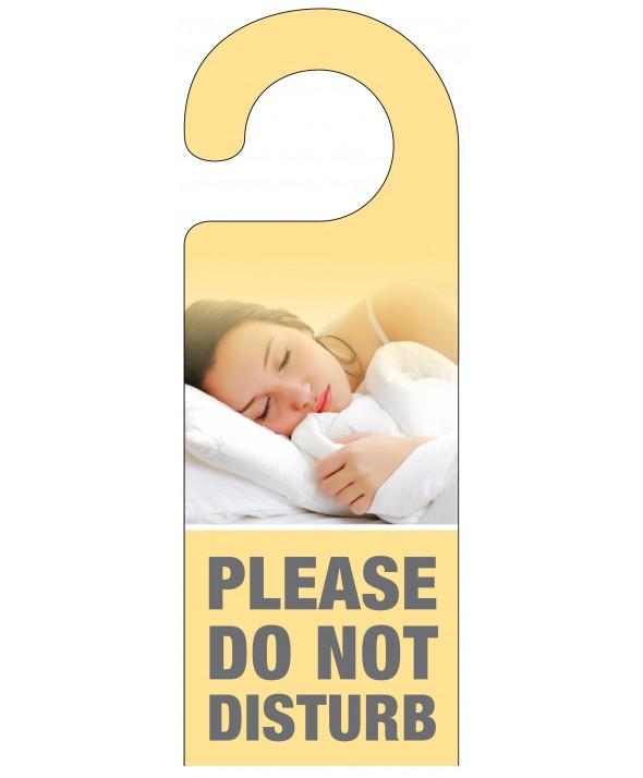 Sleeping Woman Do Not Disturb Door Hanger – Peach