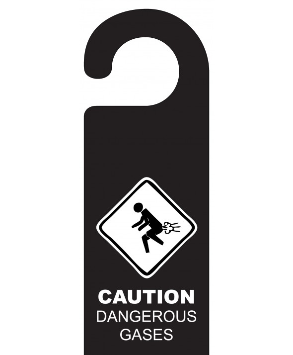 Naughty Door Hanger (Dangerous Gases)