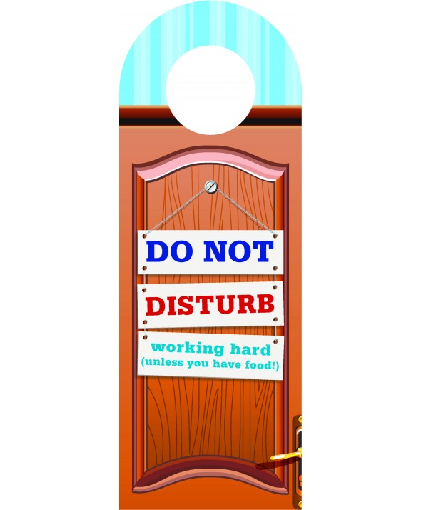 Hard Working Student – Do Not Disturb Door Hanger
