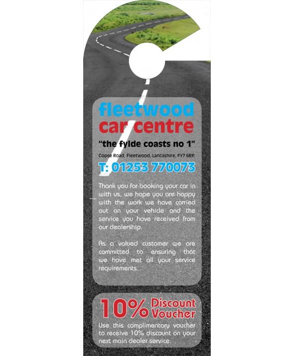 Discount Voucher Car Mirror Hanger