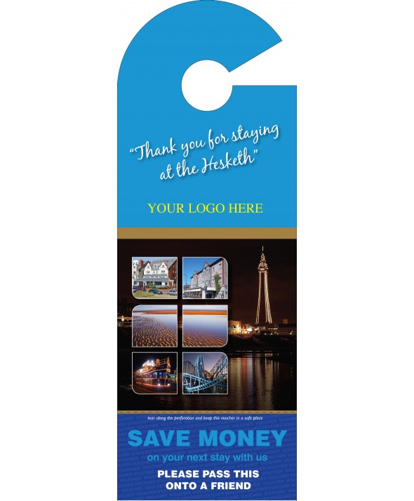 Hotel Voucher Door Hanger (Blue)