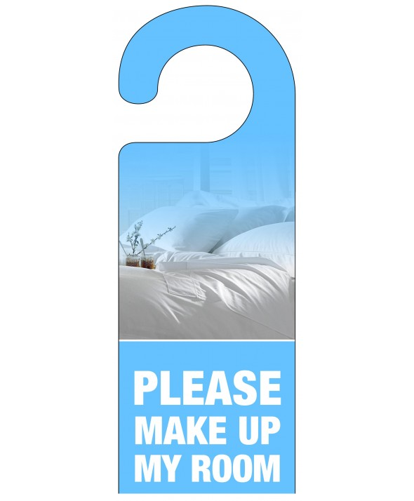 Make Up My Bed Light Blue Door Hanger