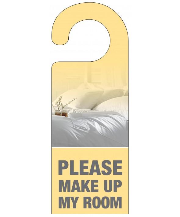 Make Up My Bed Yellow Door Hanger