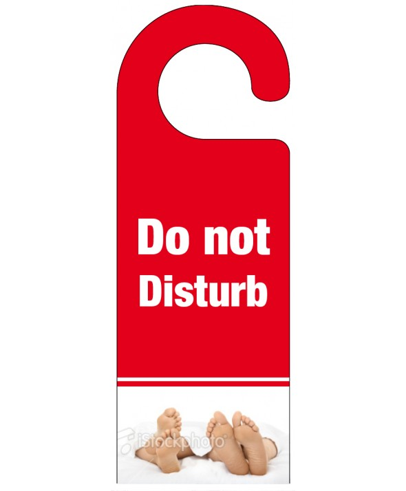 Foot of the Bed Do Not Disturb Hanger – Red