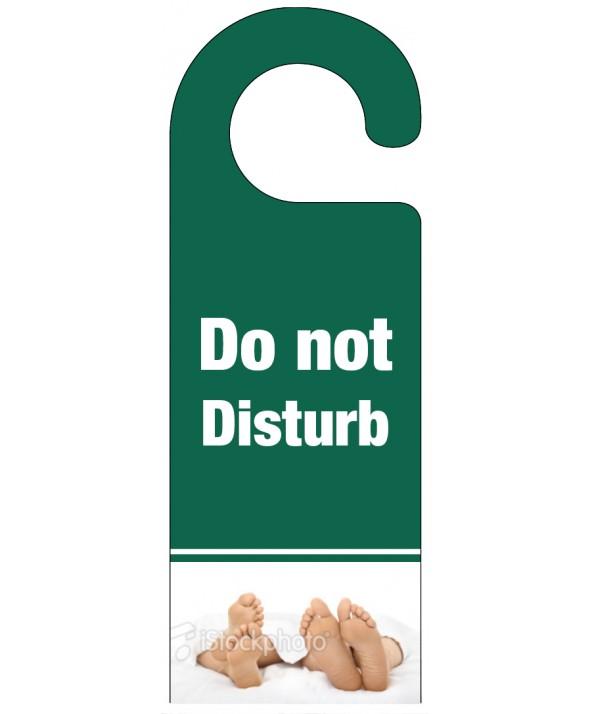 Foot of the Bed Do Not Disturb Hanger – Dark Green