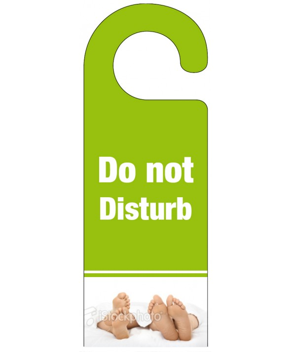 Foot of the Bed Do Not Disturb Hanger - Light Green