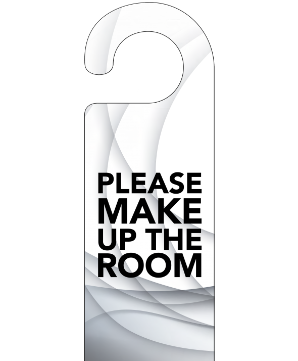 Grey Swish Please Make Up The Room Door Hanger