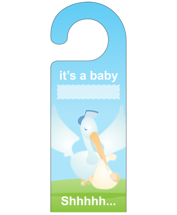 It's A Baby... Door Hanger