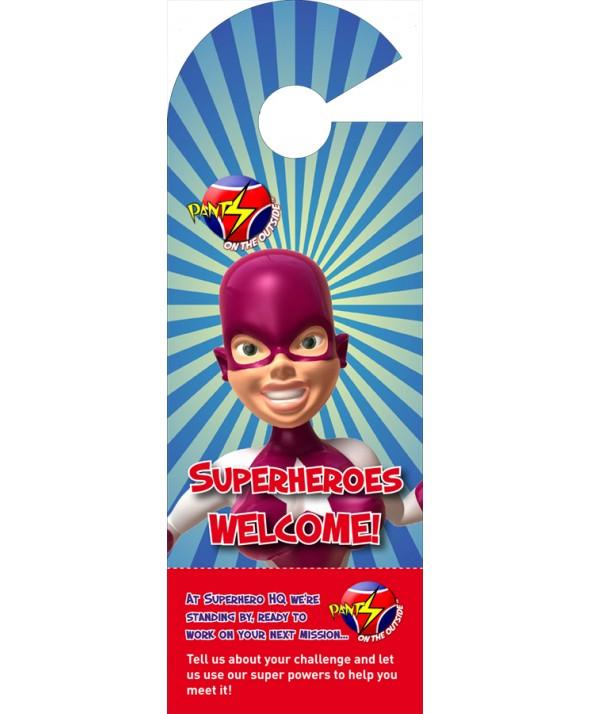 Superhero Door Hanger (Female)