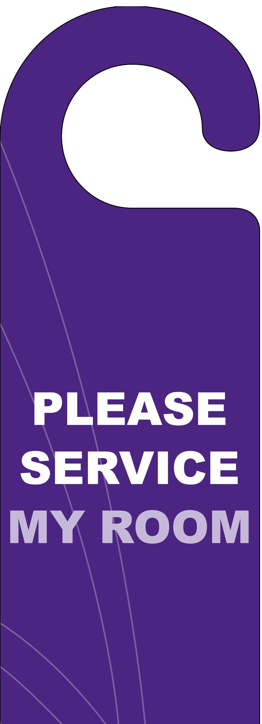 Please Service My Room Door Hanger Purple