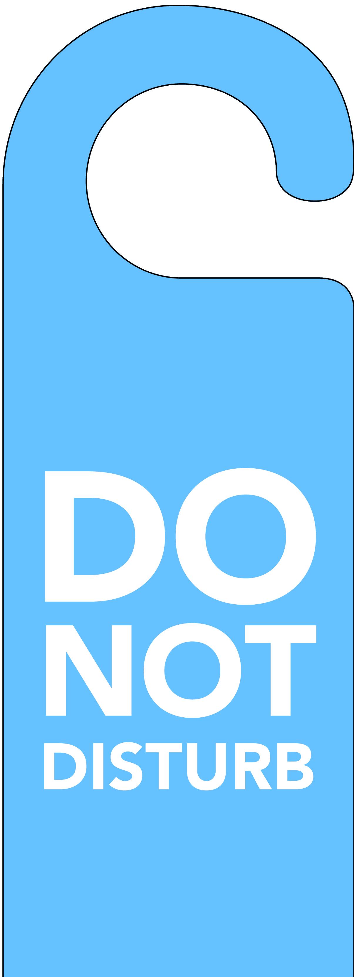 blue do not disturb door hanger