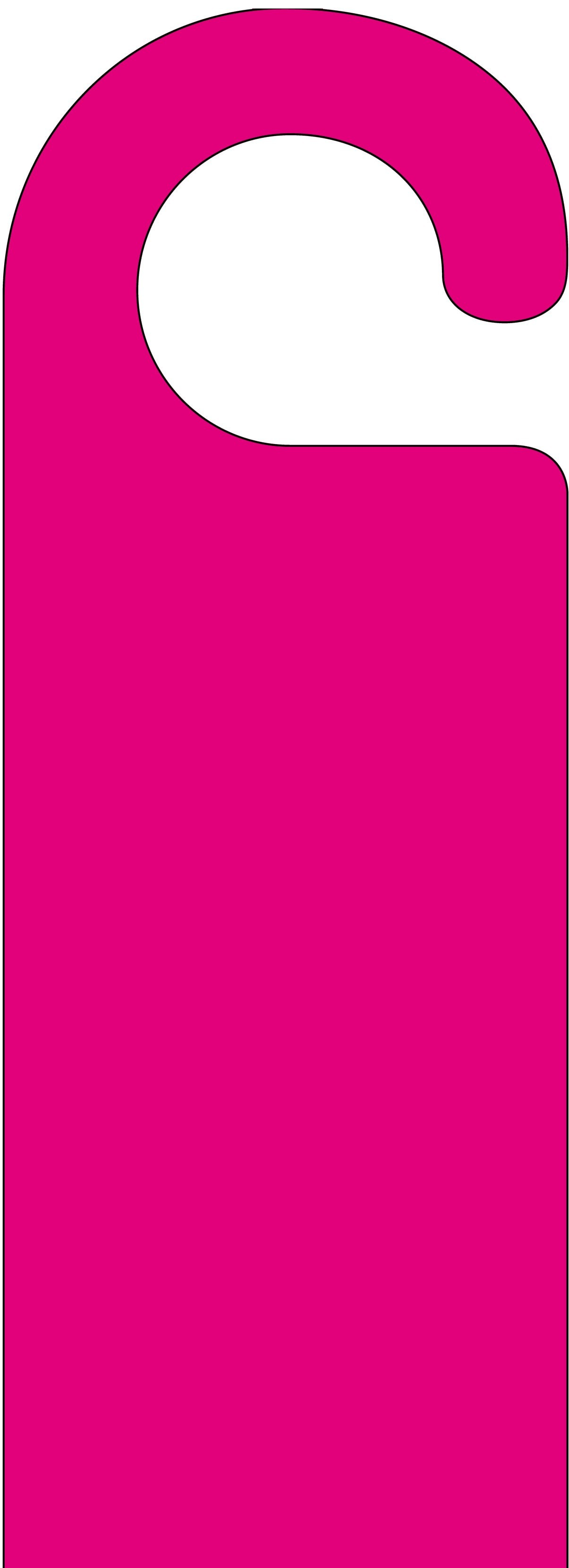 Custom Card Template uk id card template : Home / Door Hanger Categories / Plain Door Hangers / Pink Door Hanger