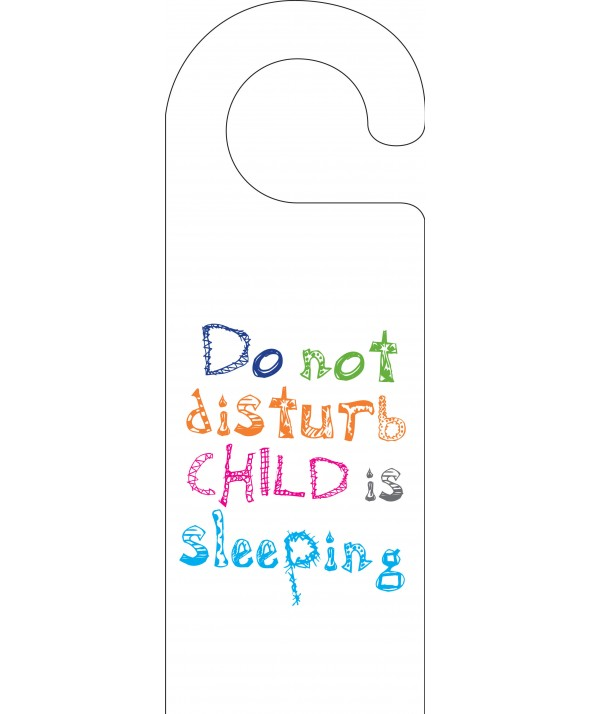 Do Not Disturb - Child is Sleeping Door Hanger