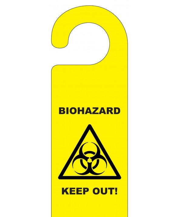 Biohazard Keep Out Door Hanger