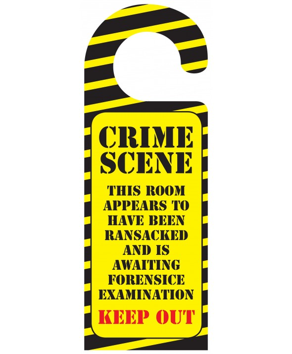 Novelty Door Hanger (Crime Scene)
