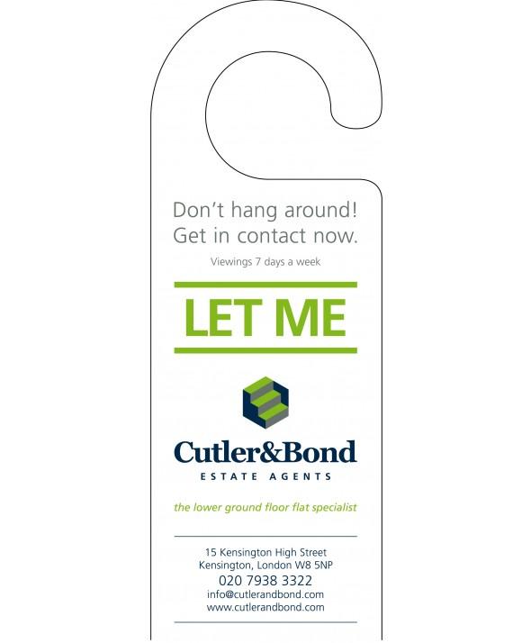 Advertising Door Hanger (Estate Agent)