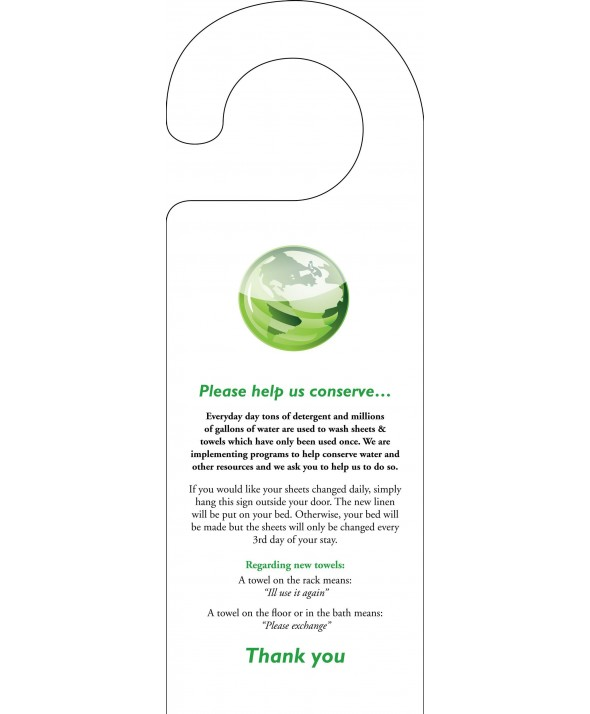 Environmental Door Hanger