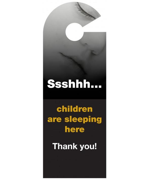 Shhh Children Asleep Door Hanger (Design 3)
