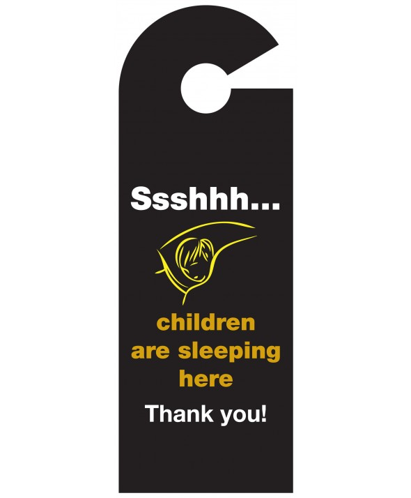 Shhh Children Asleep Door Hanger (Design 2)