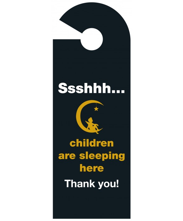 Shhh Children Asleep Door Hanger (Design 1)