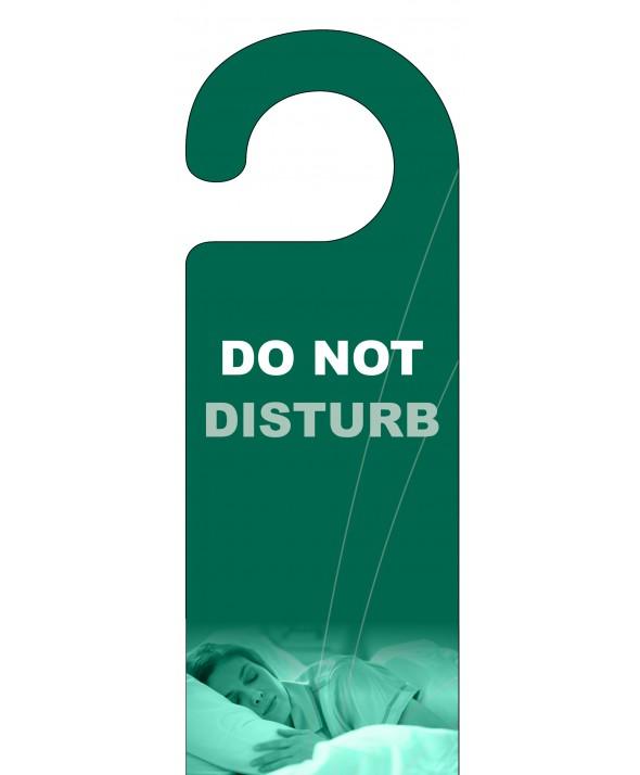 Sleeping Woman Do Not Disturb Door Hanger – Green