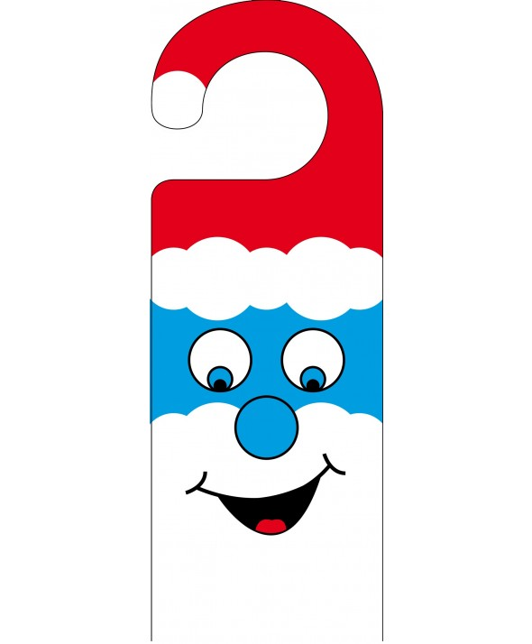 Smurf Christmas Door Hanger