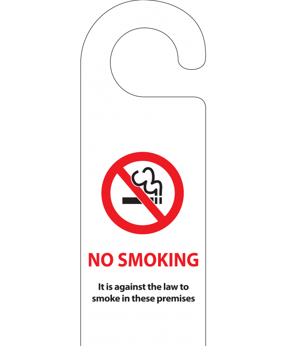No Smoking Door Hanger (Design 1)