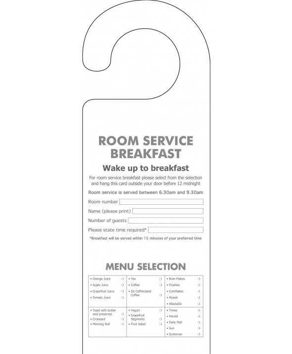 Breakfast Order Door Hanger (Design 2)