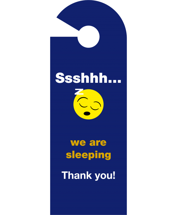 Shhh We Are Sleeping Door Hanger (Design 1)