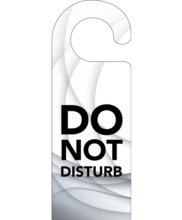Grey Swish Do Not Disturb Door Hanger