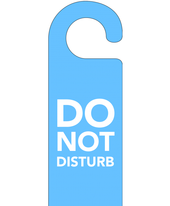Blue Do Not Disturb Door Hanger