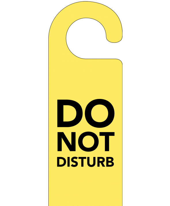 Yellow Do Not Disturb Door Hanger