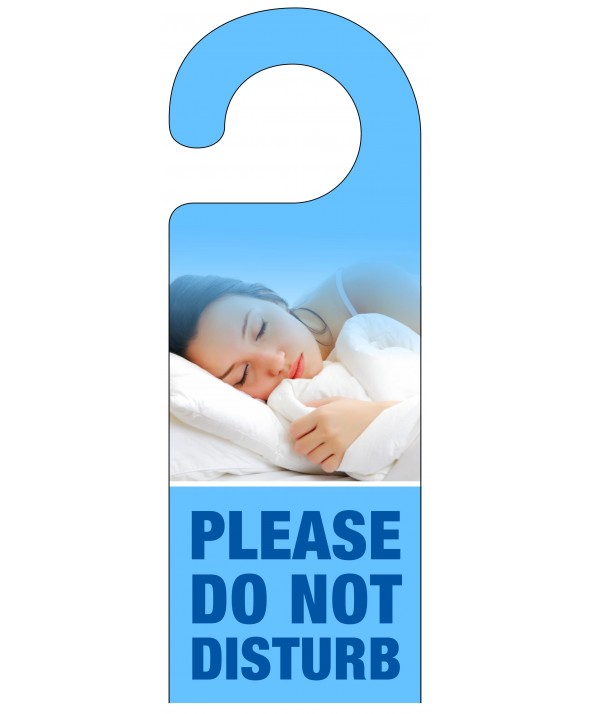 Sleeping Woman Do Not Disturb Hanger – Light Blue