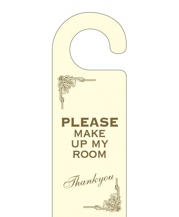 Art Deco Please Make Up My Room Door Hanger