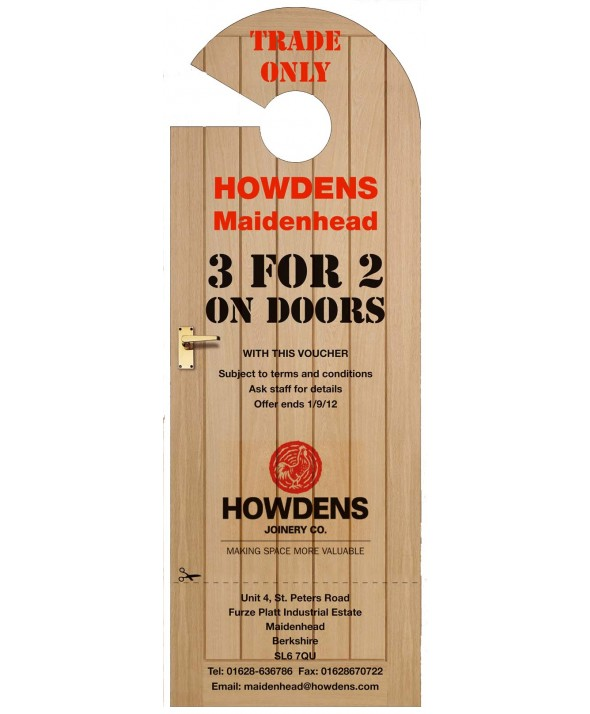 Wood Effect Advertising Door Hanger