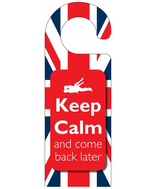 Naughty Door Hanger (Keep Calm)