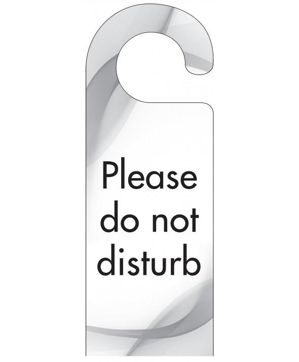 Grey Swish Do Not Disturb Door Hanger