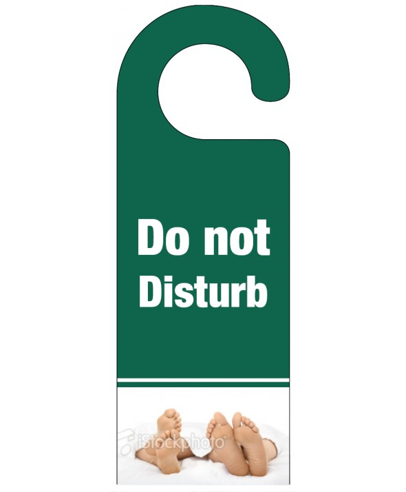 Foot of the Bed Do Not Disturb Hanger – Dark Green