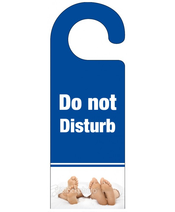 Foot of the Bed Do Not Disturb Hanger - Blue