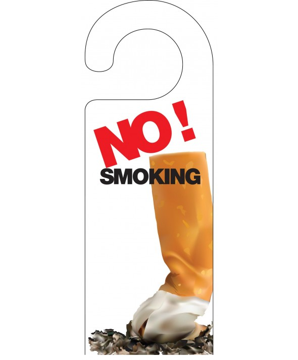 No Smoking Door Hanger (Design 2)