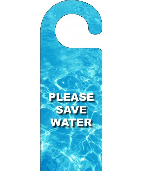 Save Water Door Hanger