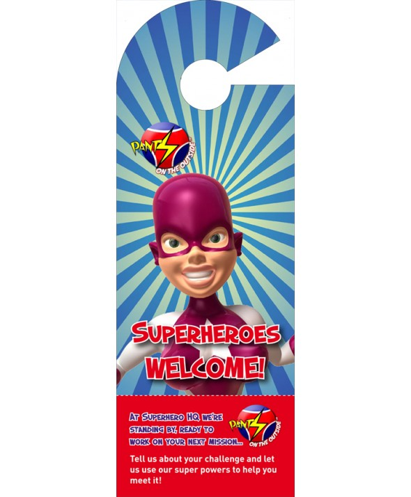 Superhero Door Hanger (Female)