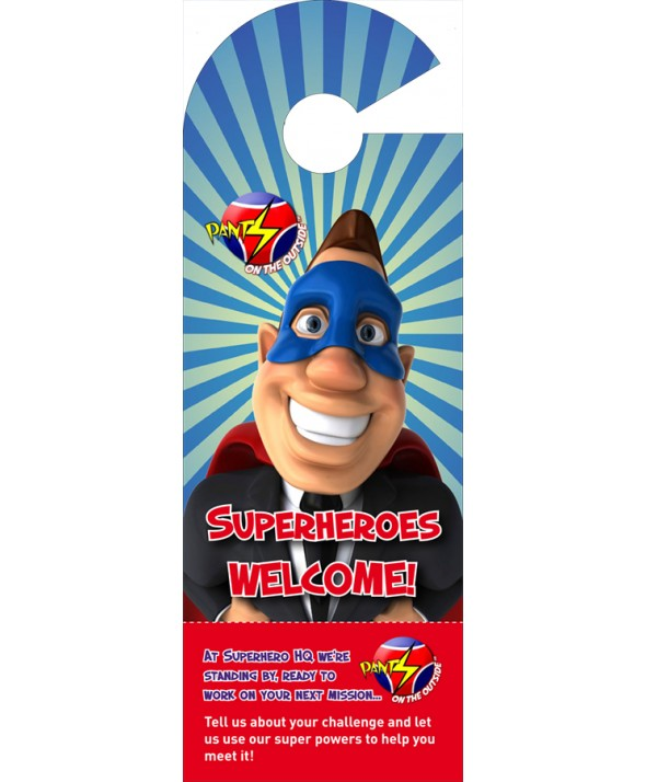 Superhero Door Hanger (Male)