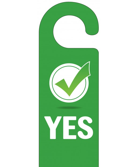Yes/No Door Hanger